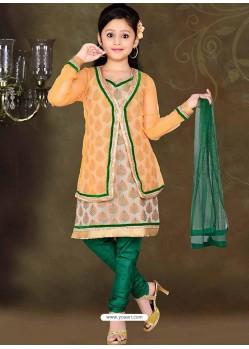 Enhancing Green Art Silk Salwar Kameez