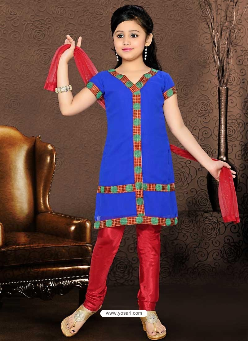 Incredible Red Embroidered Salwar Kameez