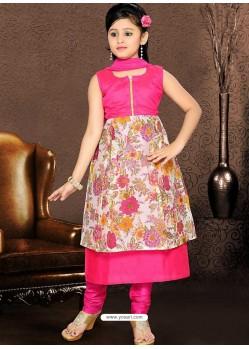 Glossy Pink Printed Salwar Kameez