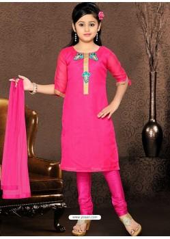 Astonishing Pink Readymade Salwar Kameez