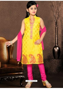Festive Pink Readymade Salwar Kameez
