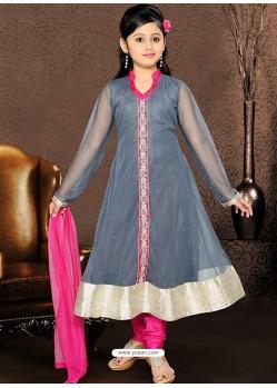 Trendy Pink Art Silk Salwar Kameez