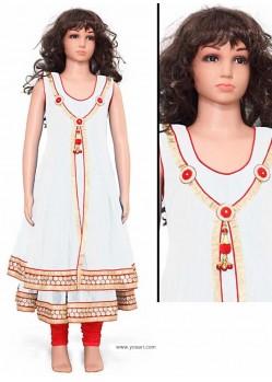 Sizzling White Readymade Salwar Kameez