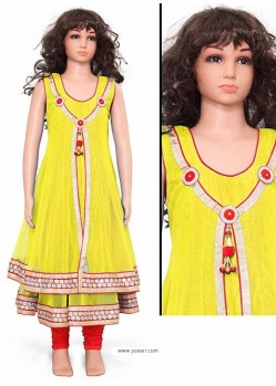 Unique Yellow Salwar Kameez