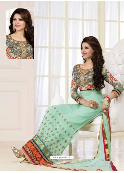 Green Georgette Churidar Suit