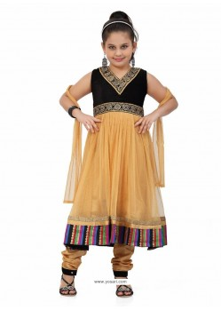 Stuning Brown Embroidered Salwar Kameez