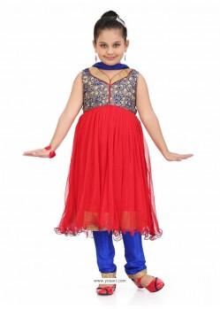 Sizzling Blue Readymade Salwar Kameez