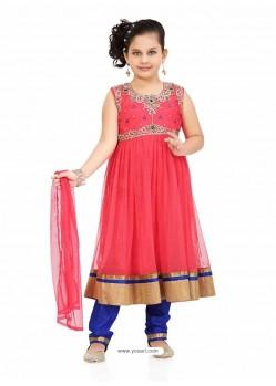 Flattering Blue Art Silk Salwar Kameez