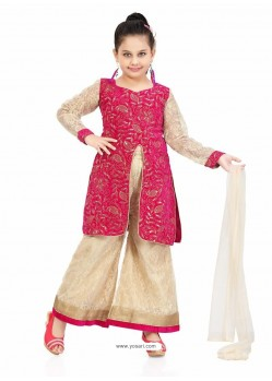 Lovely Art Silk Cream Salwar Kameez