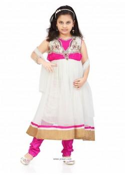 Elegant Pink Art Silk Salwar Kameez