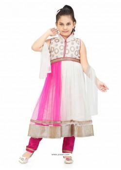 Baby Pink Girl's Salwar Kameez