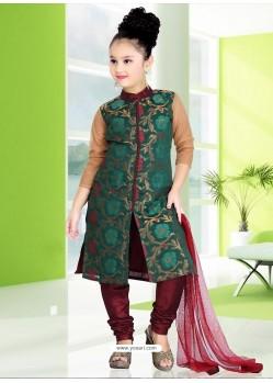 Classy Maroon Art Silk Salwar Kameez