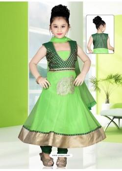 Groovy Green Embroidered Salwar Kameez