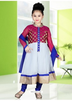 Sizzling Blue Art Silk Salwar Kameez