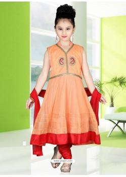 Festive Red Readymade Salwar Kameez