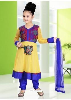 Splendorous Blue Readymade Salwar Kameez