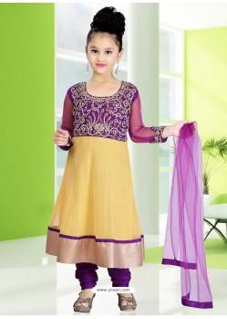 Stunning Purple Embroidered Salwar Kameez