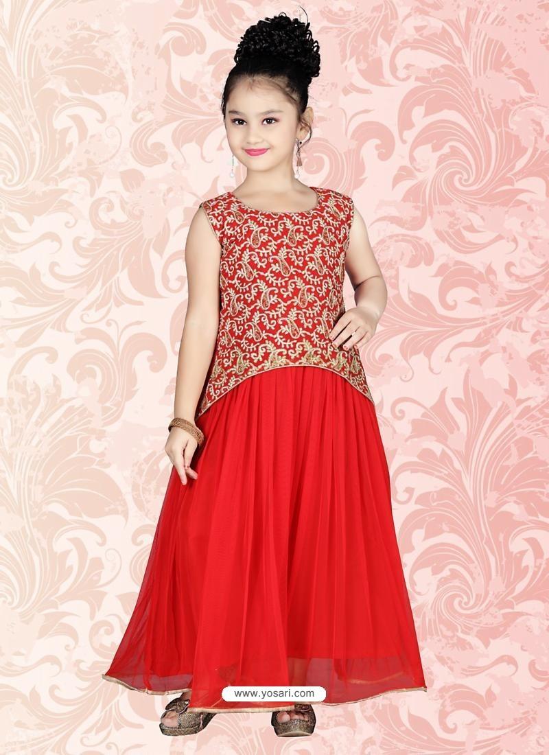 Sizzling Red Embroidered Salwar Kameez