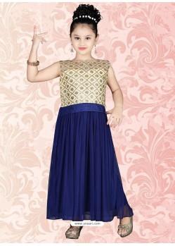 Graceful Blue Net Salwar Kameez
