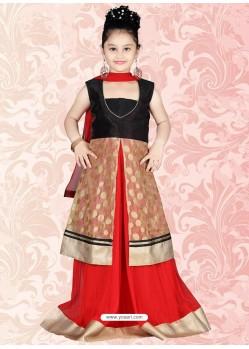 Inspiring Red Net Salwar Kameez