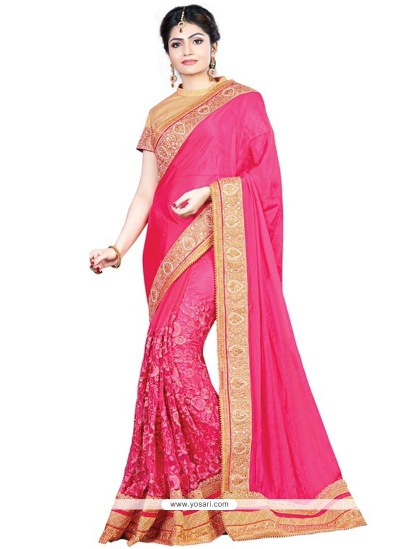 93cbfc2082 Buy Prepossessing Embroidered Work Hot Pink Designer Traditional ...