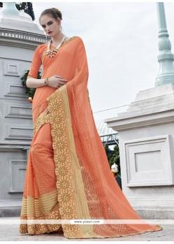 Especial Orange Classic Designer Saree