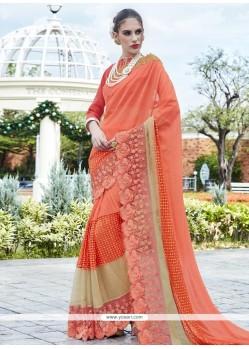 Superb Lycra Embroidered Work Classic Designer Saree