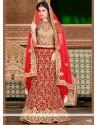 Delightful Red Resham Work Lehenga Choli