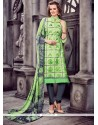 Classy Cotton Sea Green Churidar Designer Suit