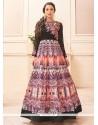Gauhar Khan Multi Colour Designer Floor Length Suit