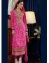 Bright Pink Pure Georgette Punjabi Suit