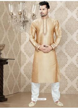 Appealing Beige Art Silk Readymade Kurta