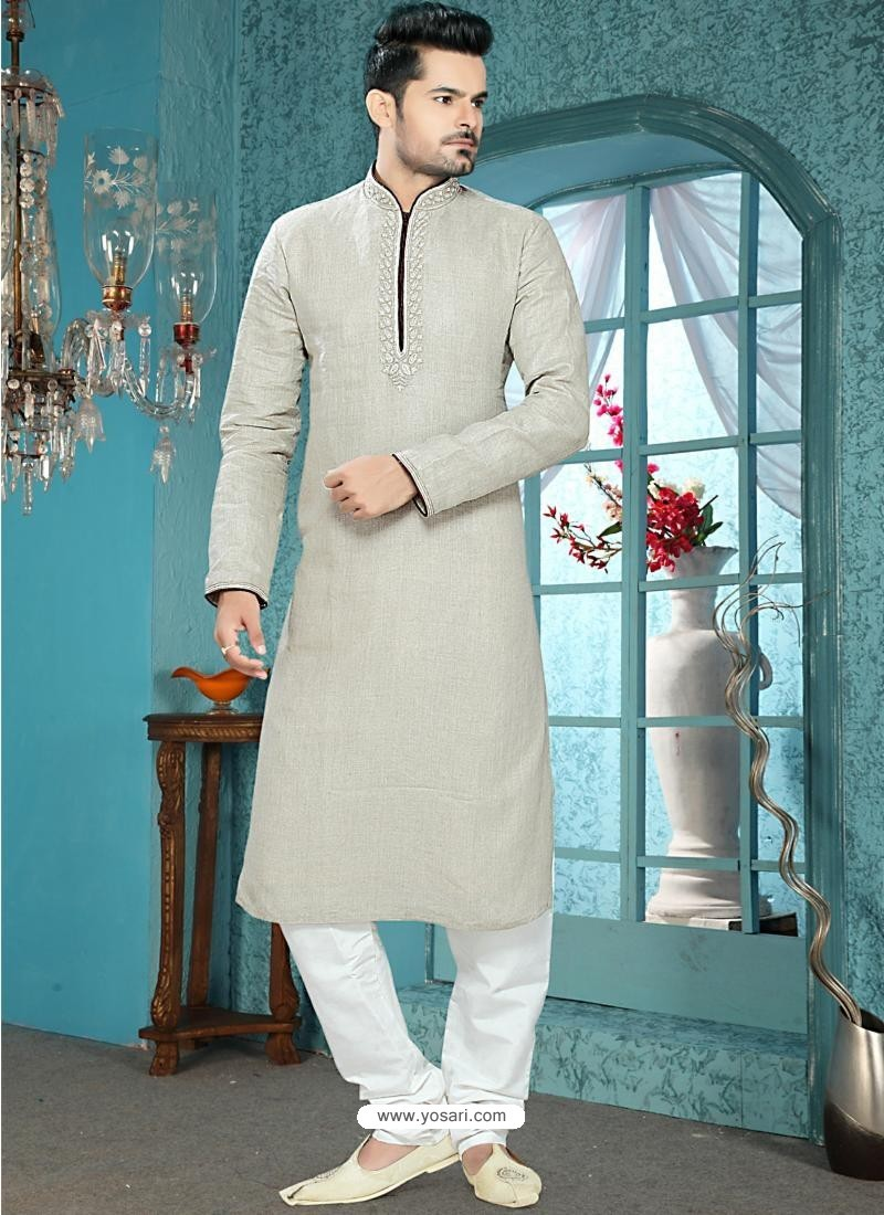 Buy Stylish Grey Men\'s Readymade Kurta | Kurta Pajama