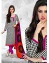 Black And Pink Cotton Churidar Suit