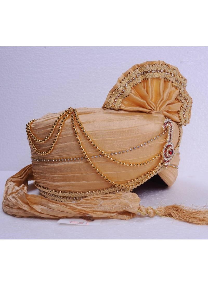 Cream Traditional Wedding Safa