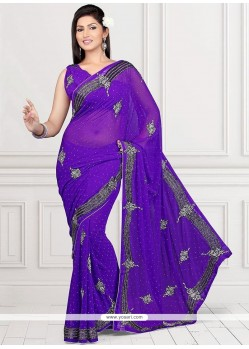 Elite Purple Classic Saree