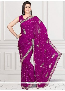 Captivating Faux Georgette Classic Designer Saree