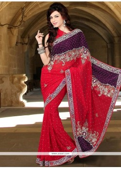 Paramount Red Designer Saree