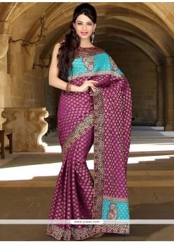 Elegant Viscose Embroidered Work Designer Saree