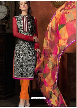 Multicolor Cotton Designer Salwar Suit