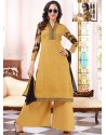 Mustard Georgette And Net Pakistani Suits