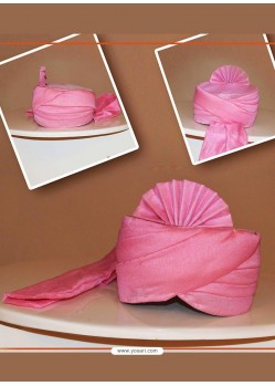 Stylish Pink Chanderi Silk Wedding Turban