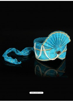 Authentic Blue Net Turban For Men
