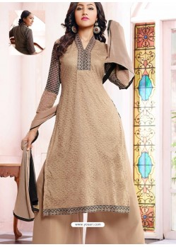 Grey Georgette And Net Pakistani Suit