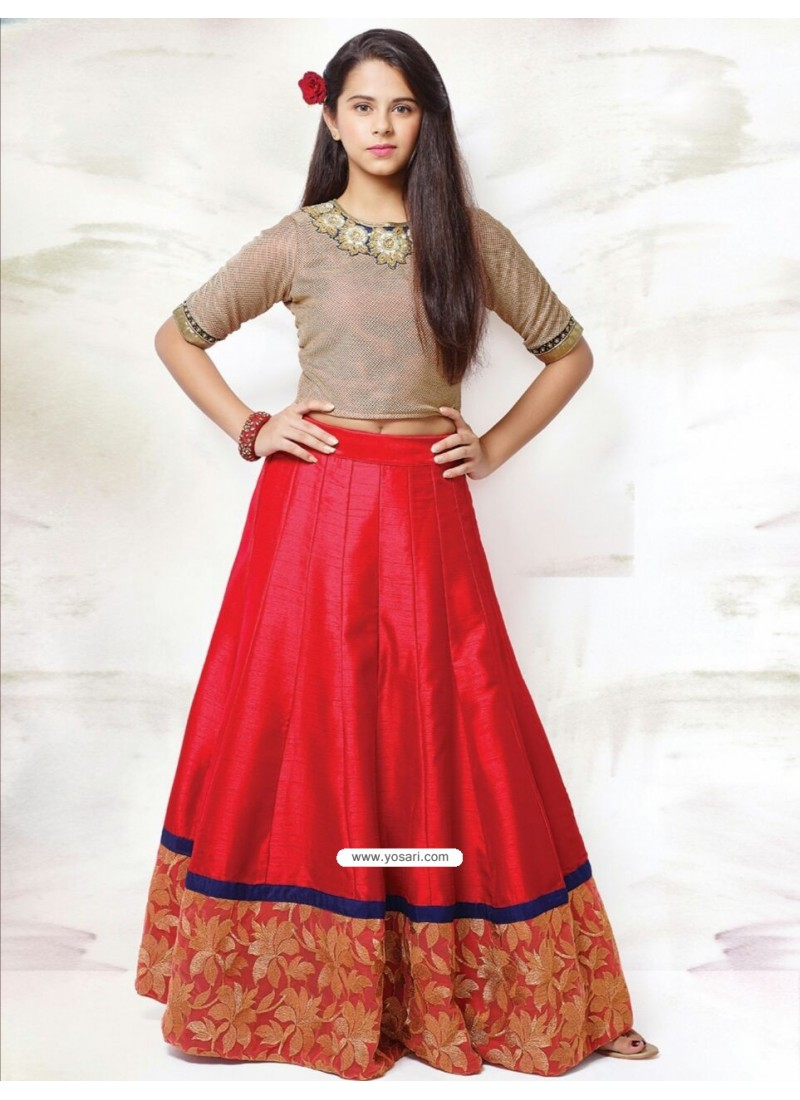 Awesome Red China Blossom Top Skirt Indo