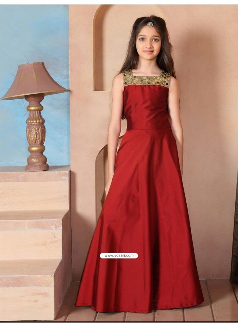 583578d86e5 Buy Gorgeous Red Taffeta Silk Dress
