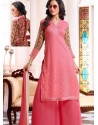 Pink Georgette And Net Pakistani Suits