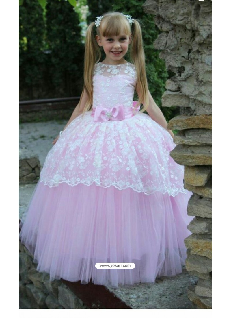 Buy Scintillating Baby Pink Evening Gown | Gown For Girls