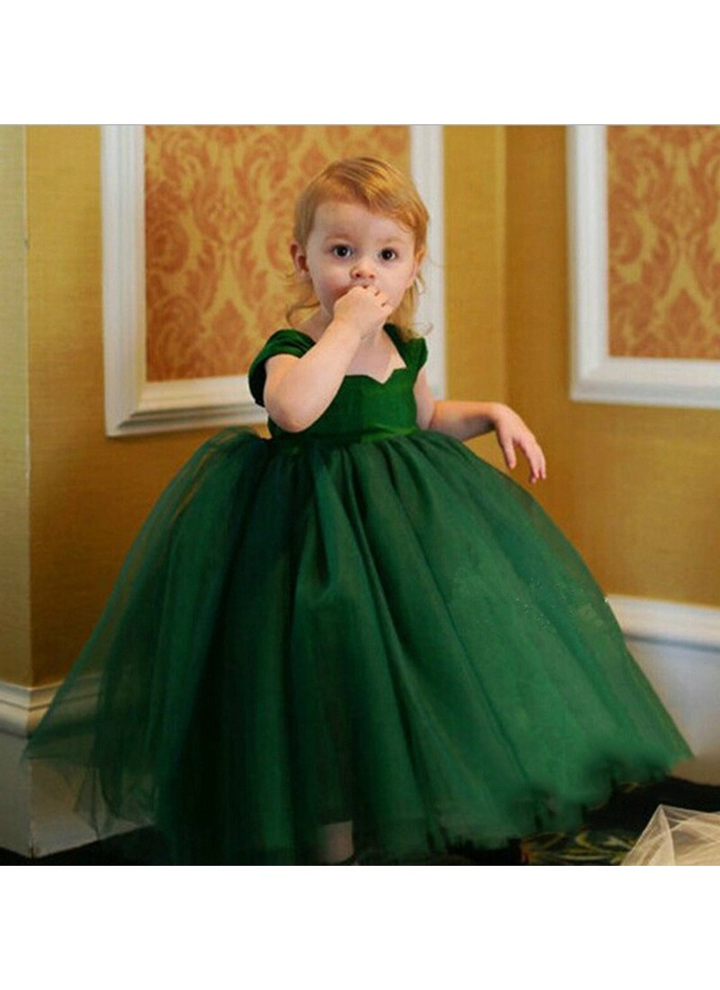 Buy Dashing Green Evening Gown | Gown For Girls