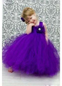 Trendy Purple Floor Length gown